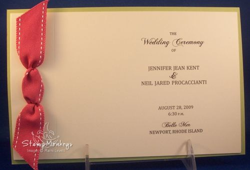I had the opportunity to make some wedding programs for a gal named Jen