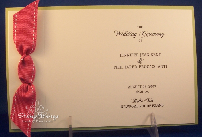 stampmonkeys handmade wedding programs