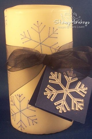 Stamped Snowflake Candle